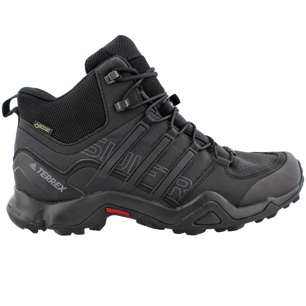 ADIDAS Men's Terrex Swift R Mid GTX Hiking Shoes - BLACK/BLACK/GREY