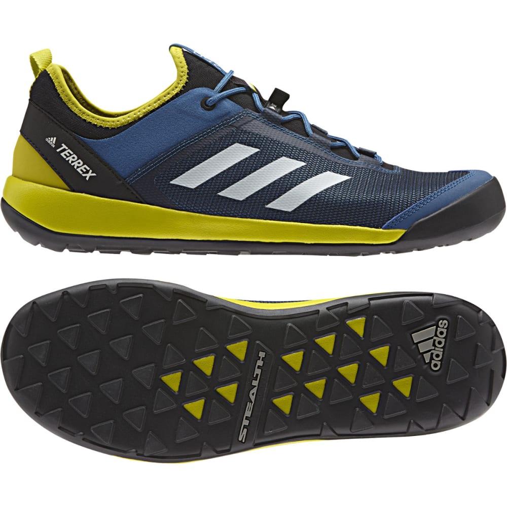 ADIDAS Men's Terrex Swift Solo Hiking Shoes - BLUE/WHITE/LIME