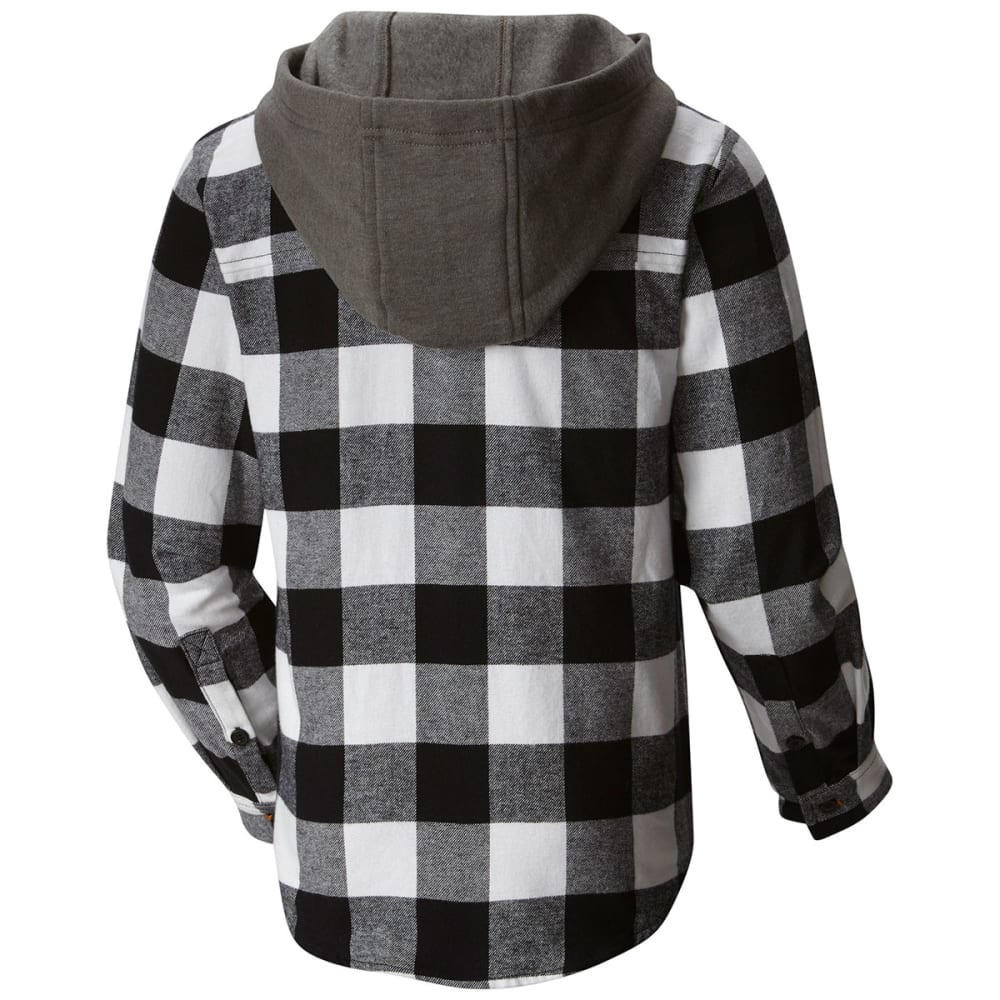 COLUMBIA Boys' Boulder Ridge™ Flannel Hoodie - 010-BLACK BUFFALO PL