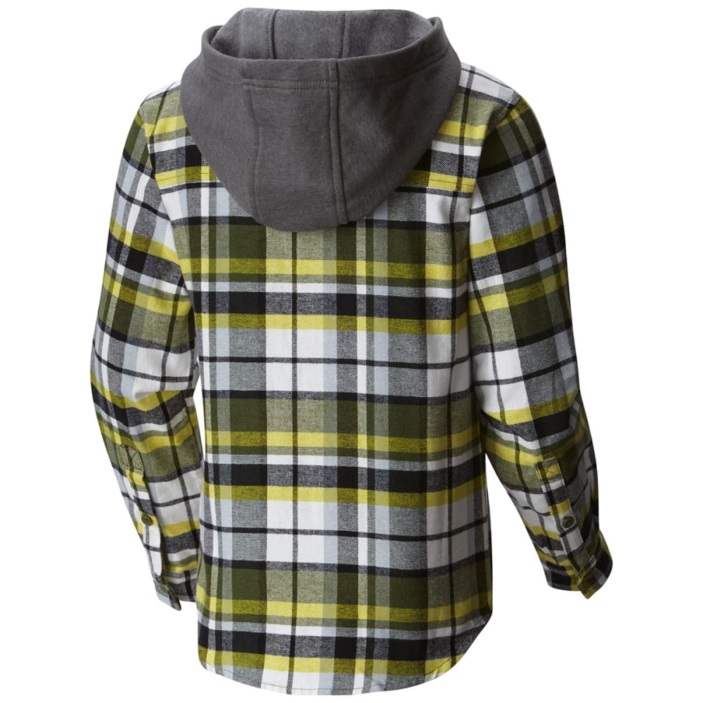 COLUMBIA Boys' Boulder Ridge™ Flannel Hoodie - 337-PESTO MULTI PLAI