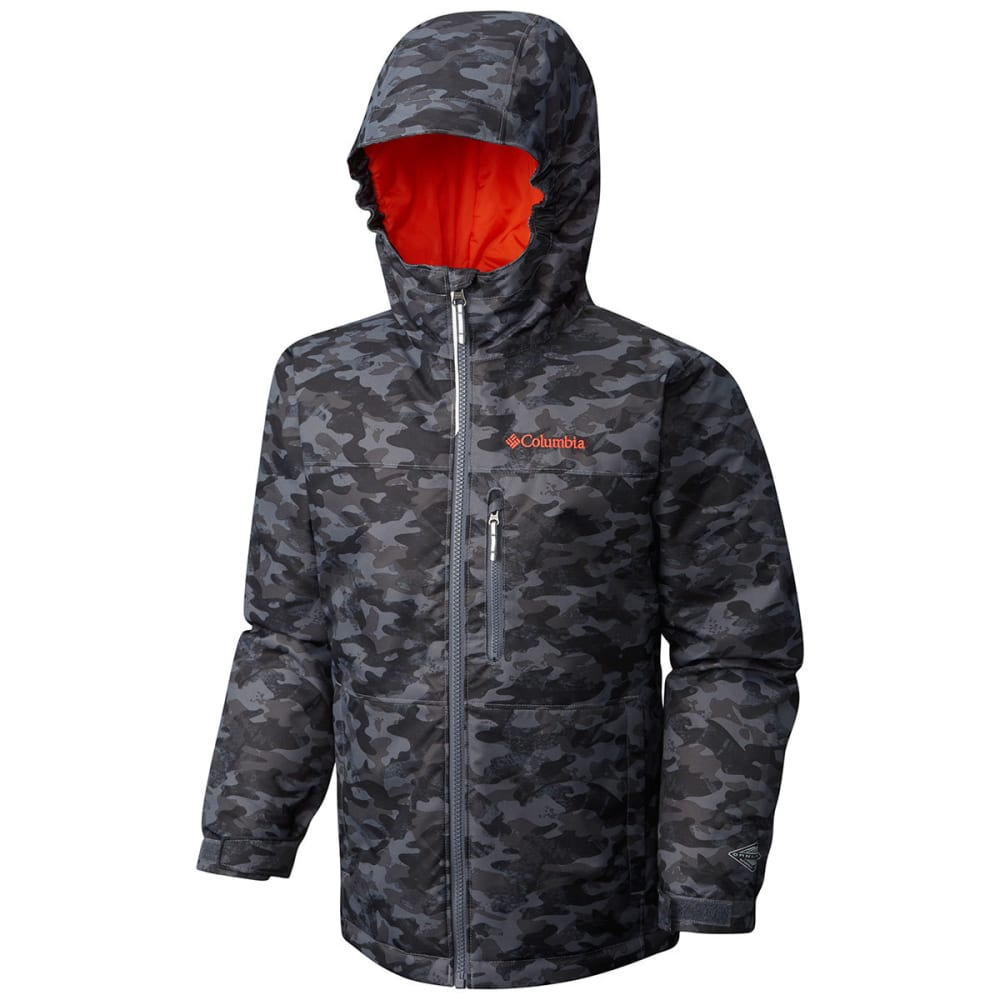 COLUMBIA Boys' Magic Mile Jacket - 053-GRAPHITE CAMO