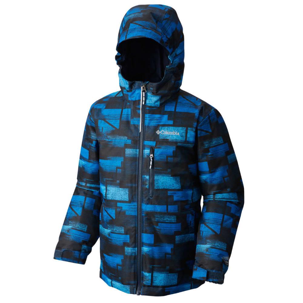 COLUMBIA Boys' Magic Mile Jacket - 438-SUPER BLUE GEO P