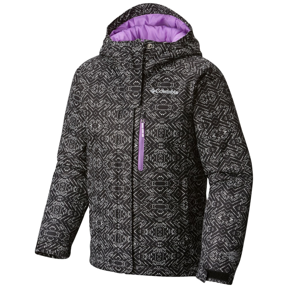 COLUMBIA Girls' Magic Mile Jacket - 010-BLK DIGI LINES P