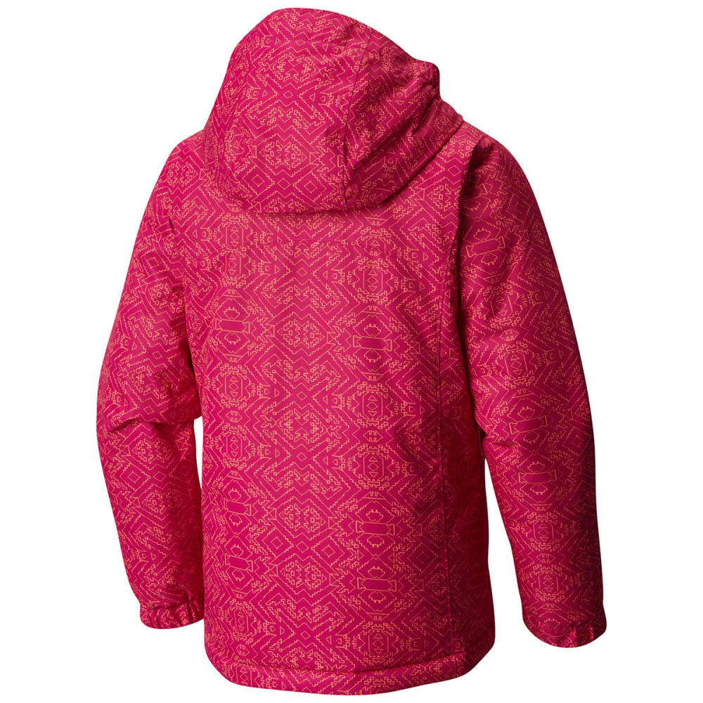 COLUMBIA Girls' Magic Mile Jacket - 684-DEEP BLUSH DIGI
