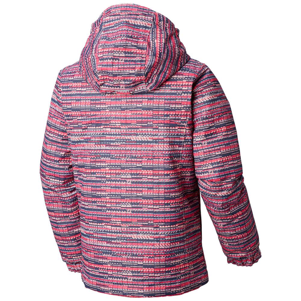 COLUMBIA Girls' Magic Mile Jacket - 686-ROSEWATER DIGI