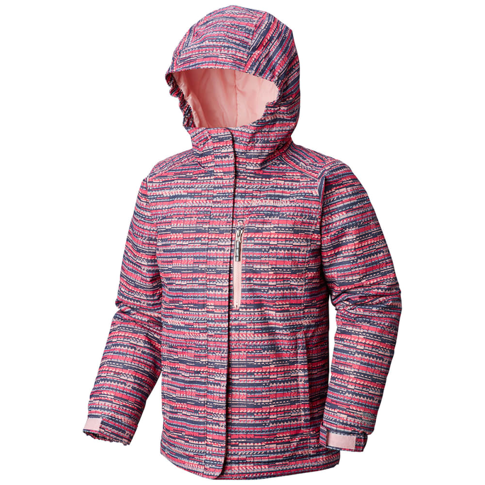 COLUMBIA Girls' Magic Mile Jacket - 686-ROSEWATER DIGI