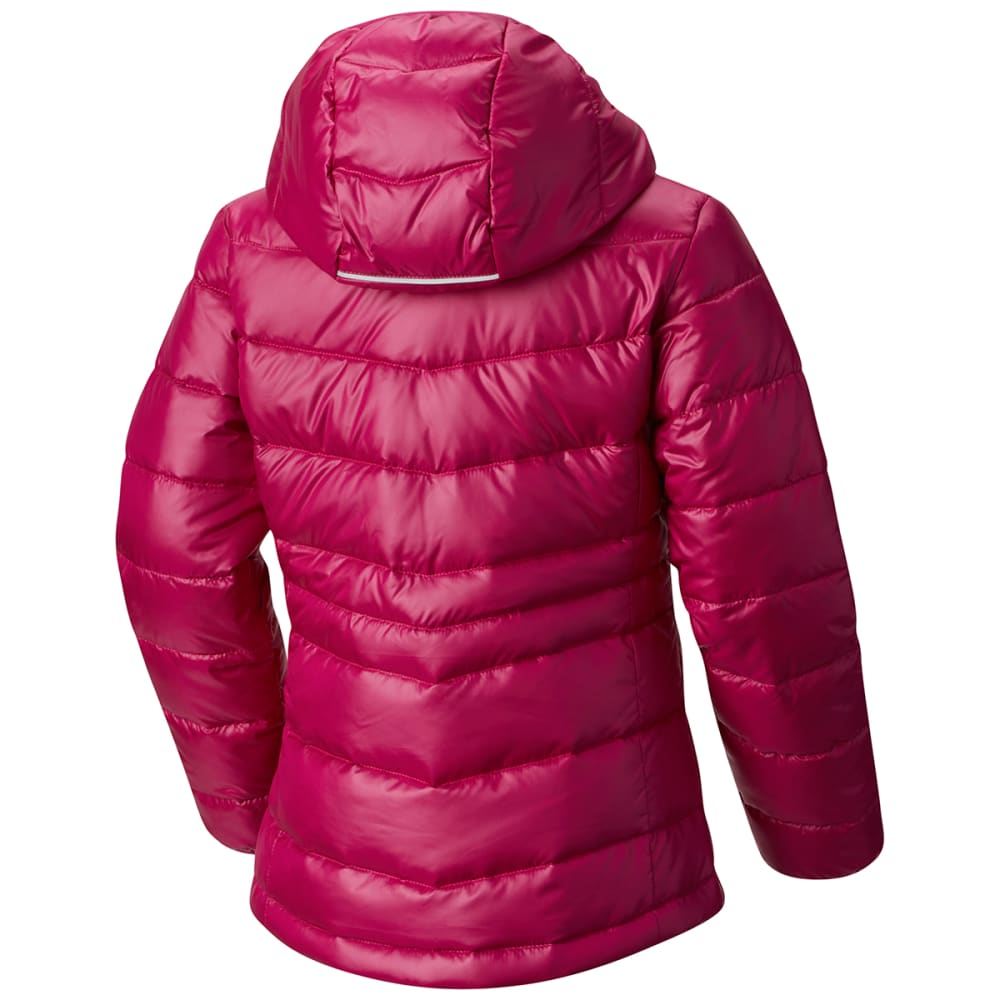 COLUMBIA Big Girls' Gold 550 TurboDown Hooded Down Jacket - 684-DEEP BLUSH