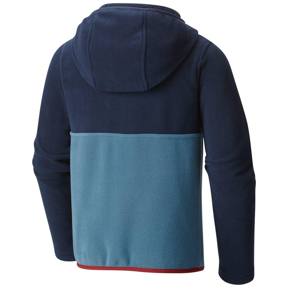 COLUMBIA Boys' Mountain Side™ Fleece Pullover Hoodie - 407-BLUE HERON/NAVY