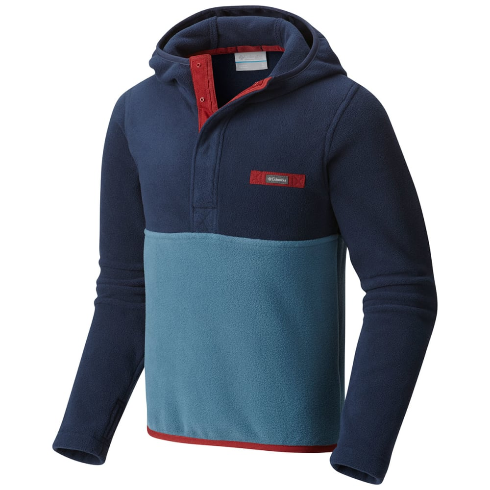 COLUMBIA Boys' Mountain Side Fleece Pullover Hoodie - 407-BLUE HERON/NAVY