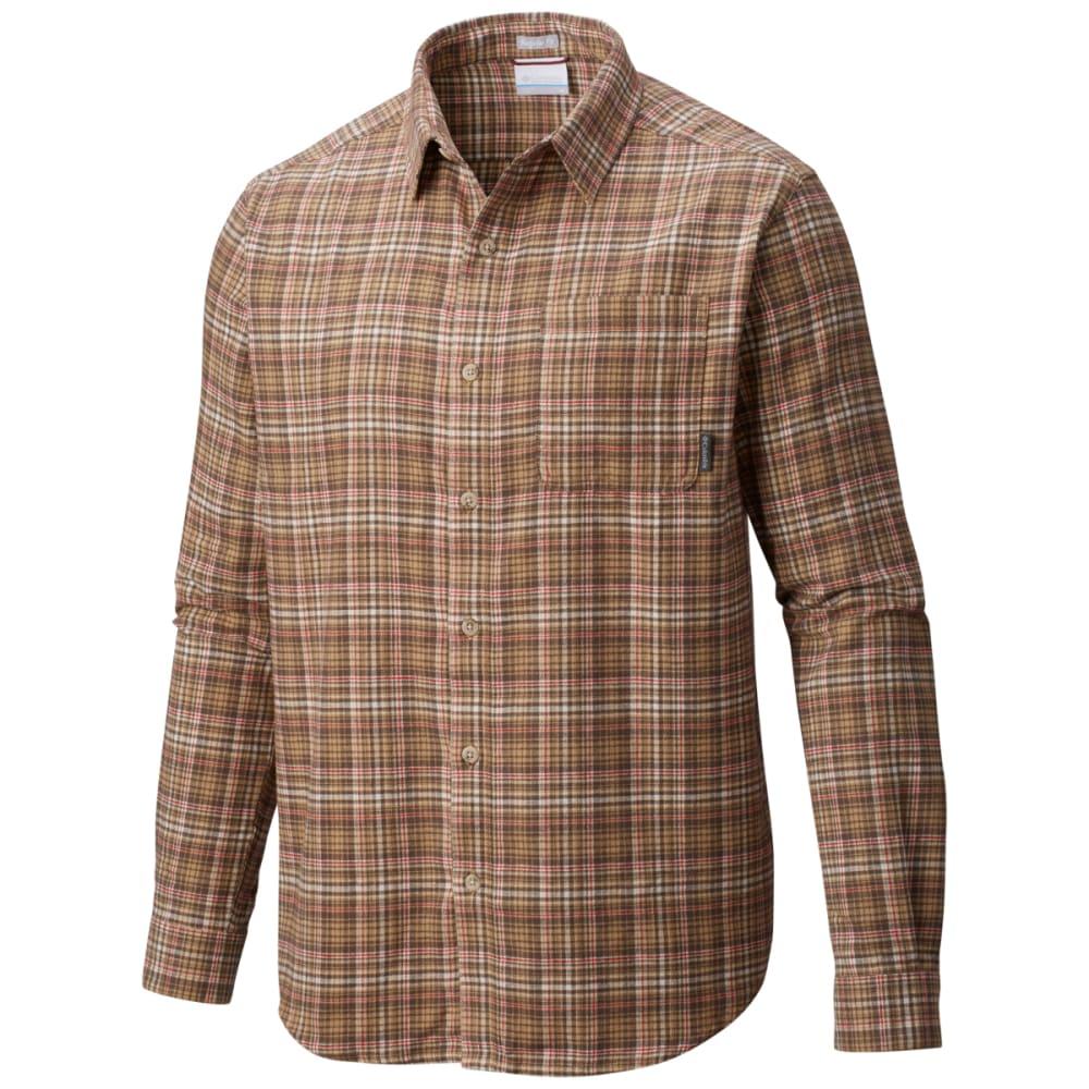 COLUMBIA Men's Boulder Ridge Long-Sleeve Flannel Shirt - 243-CROUTON MLTI PLA