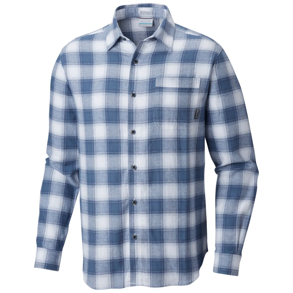 COLUMBIA Men's Boulder Ridge Long-Sleeve Flannel Shirt - MNT POP PLAID -441
