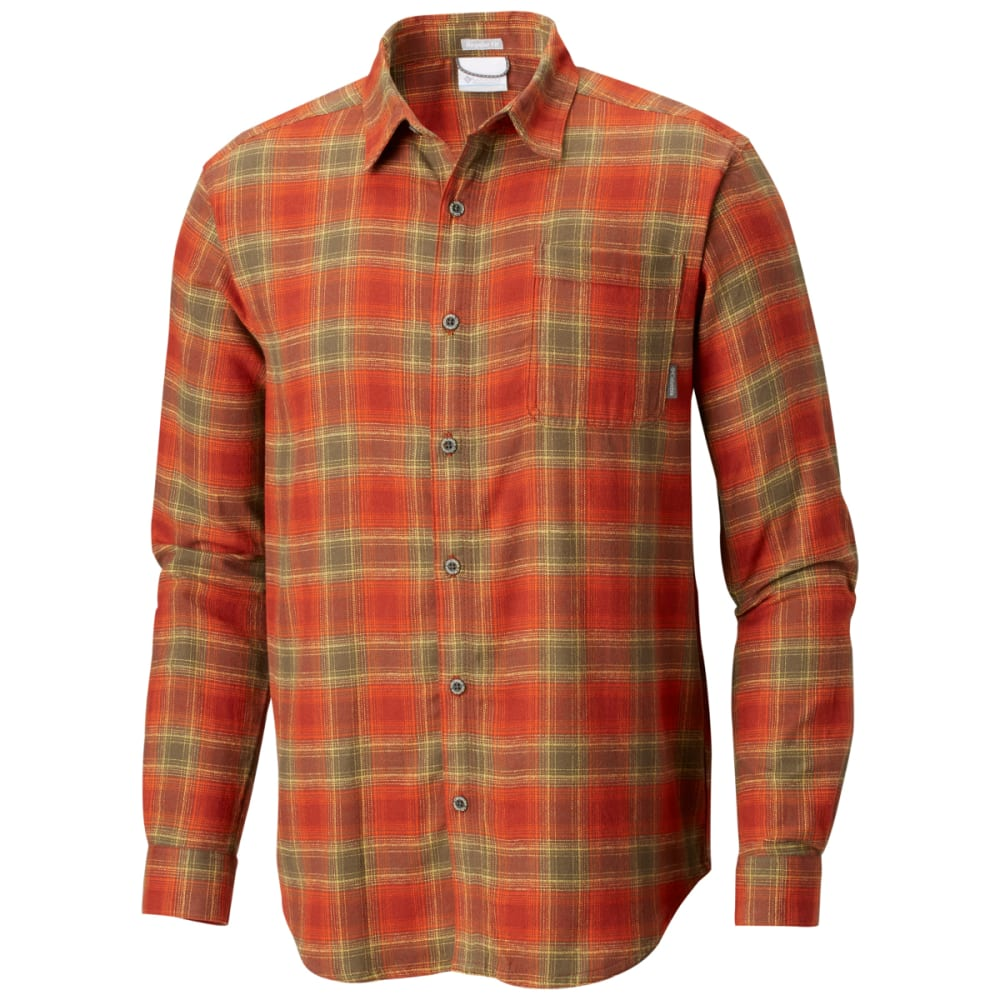 COLUMBIA Men's Boulder Ridge Long-Sleeve Flannel Shirt - RUSTY POP PLAID -809