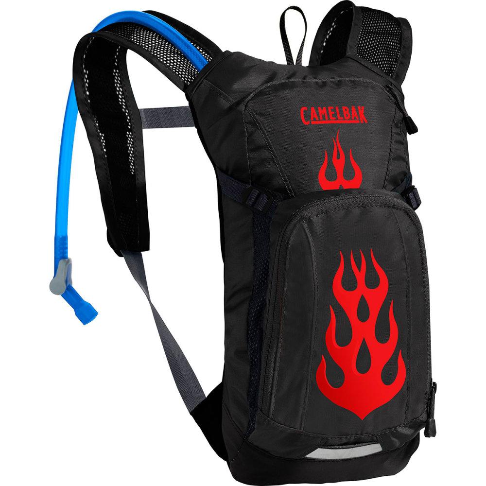 CAMELBAK Kids' Mini M.U.L.E. Hydration Pack - BLACK/FLAMES