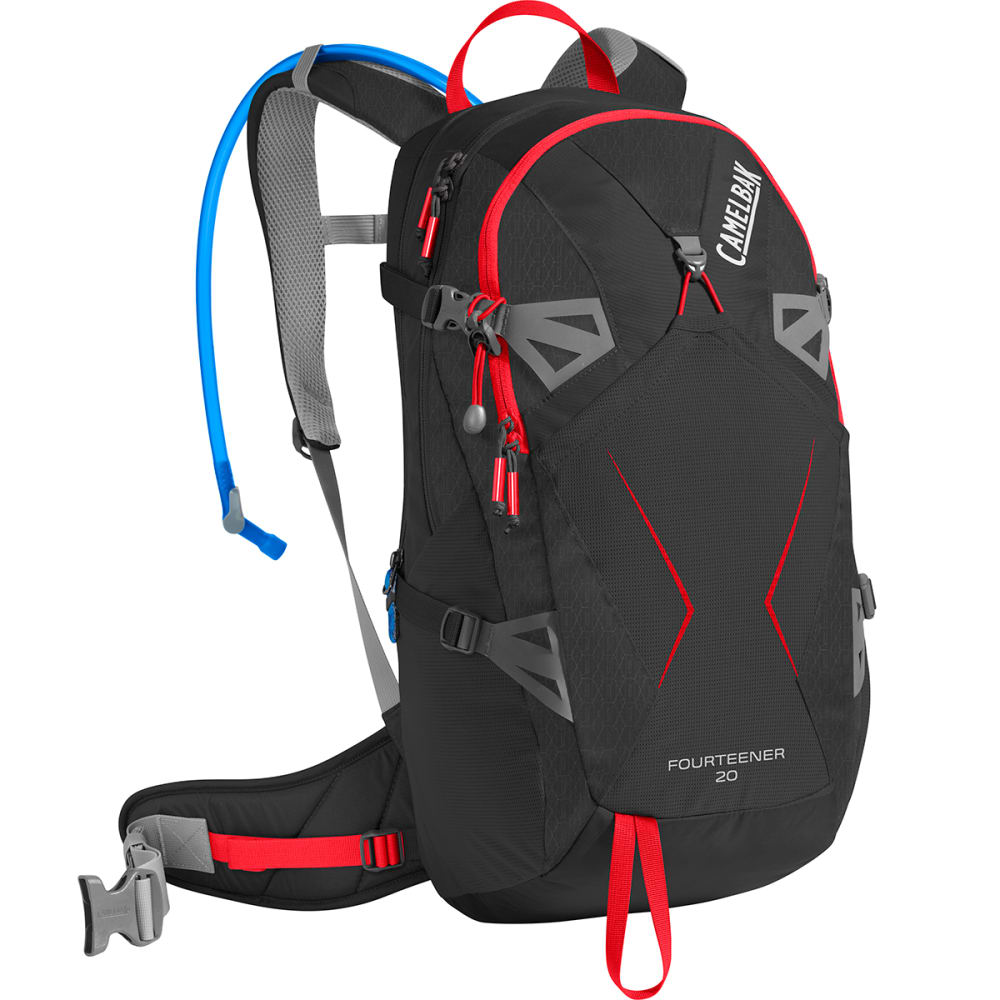 CAMELBAK Fourteener 20 Hiking Hydration Pack - BLACK/FIERY RED