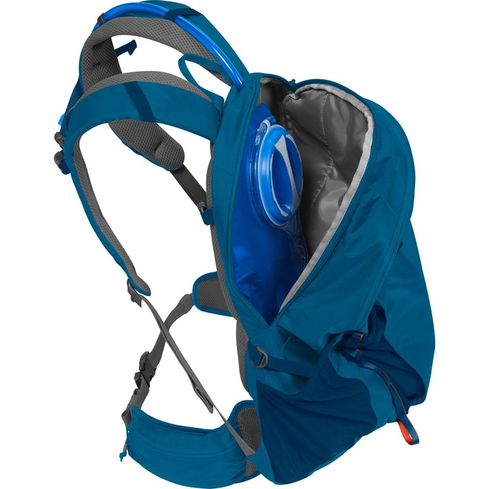 CAMELBAK Rim Runner 22 Hiking Hydration Pack - GRECIAN BLUE/PUMPKIN