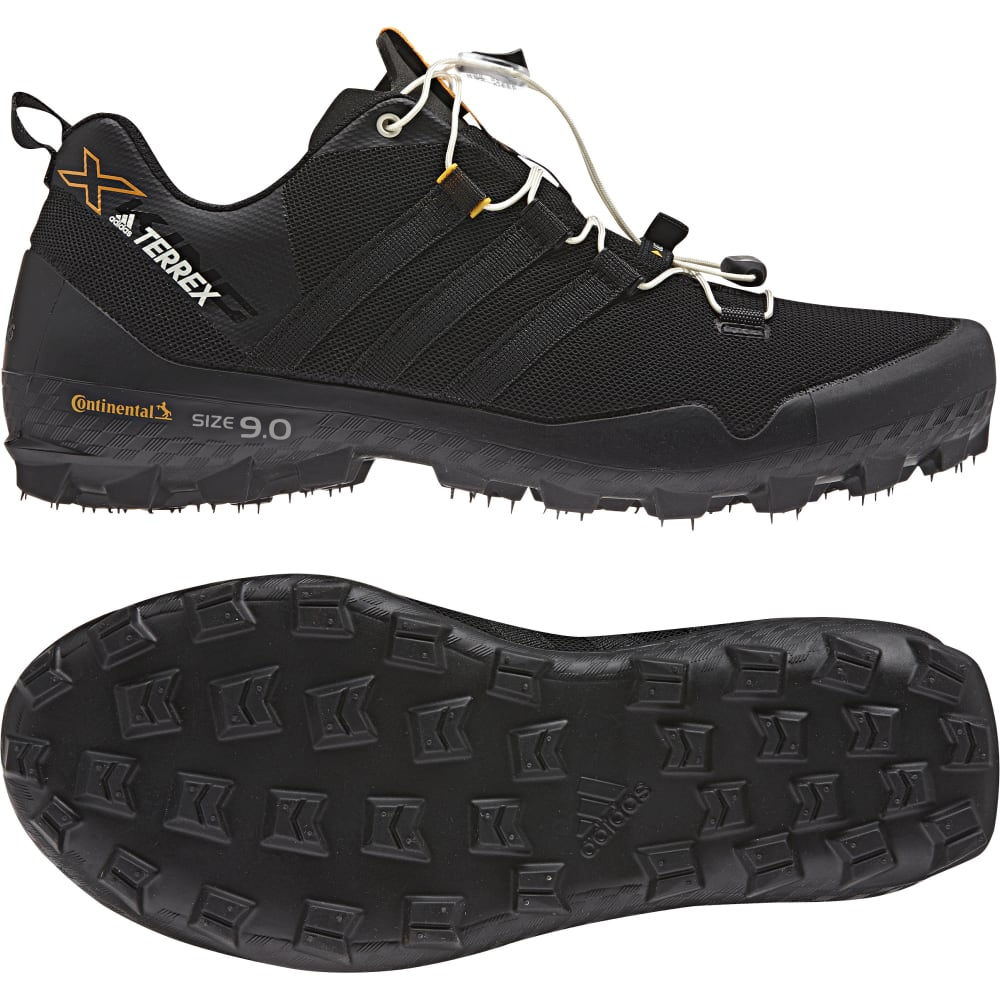 ADIDAS Men's Terrex XKing Trail Running Shoes - BLACK/BLACK/WHITE