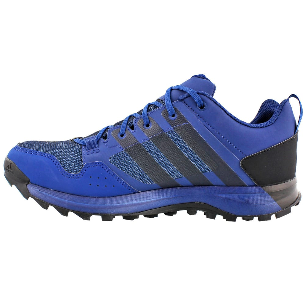 ADIDAS Men's Kanadia 7 Trail GTX Running Shoes, Mystery Blue/Black/Core Blue - BLUE/BLACK/BLUE