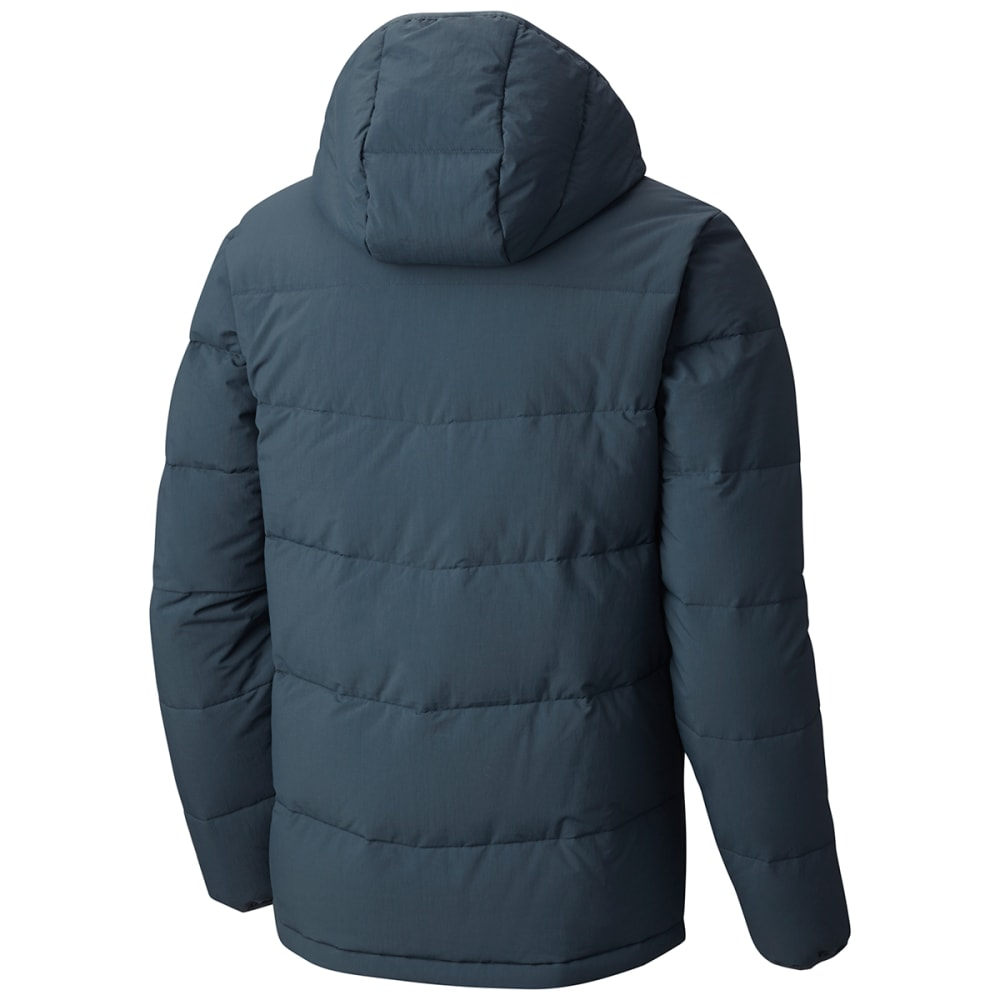 COLUMBIA Men's Lone Fir 650 TurboDown™ Hooded Jacket - 435-MYSTERY/HOT PEPP