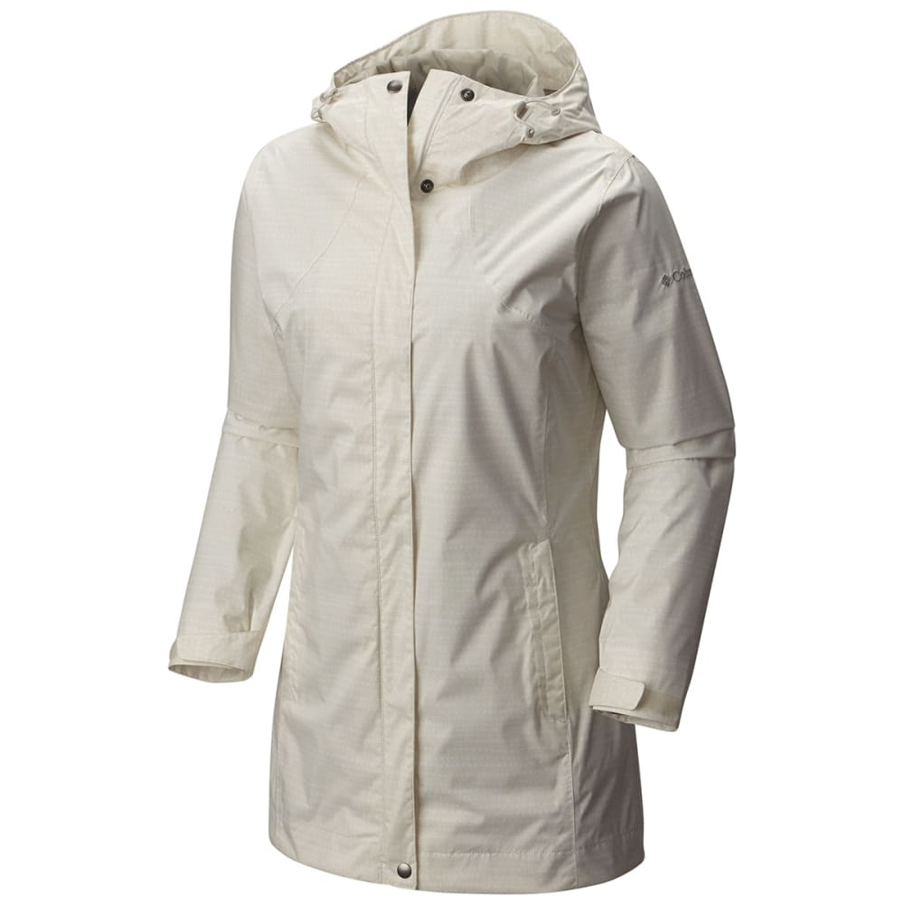 COLUMBIA Women's Splash A Little Rain Jacket - 192-SEA SALT DOTTY D
