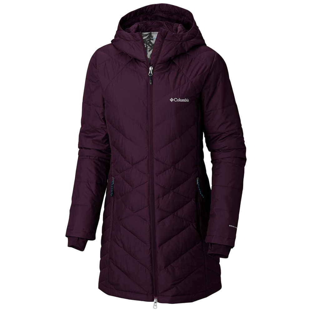 COLUMBIA Women's Heavenly Long Hooded Jacket - 522 T BLACK CHERRY