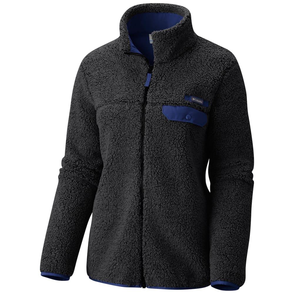 COLUMBIA Women's Mountain Side Heavyweight Fleece Full Zip Jacket - 013-BLACK/DYNASTY
