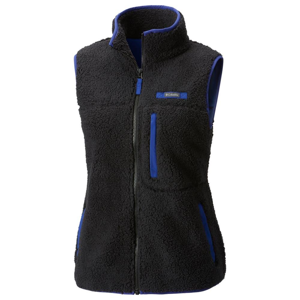 COLUMBIA Women's Mountain Side Heavyweight Fleece Vest - 010-BLACK/DYNASTY