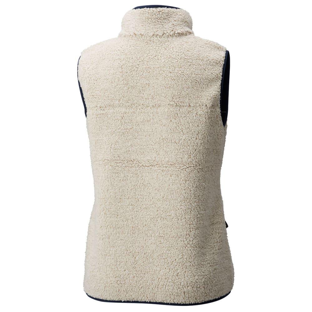 COLUMBIA Women's Mountain Side Heavyweight Fleece Vest - 191-CHALK/COLLEGIATE