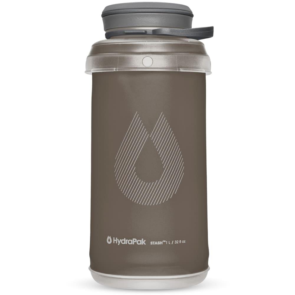 HYDRAPAK 1L Stash Water Bottle - MAMMOTH GREY/G101M