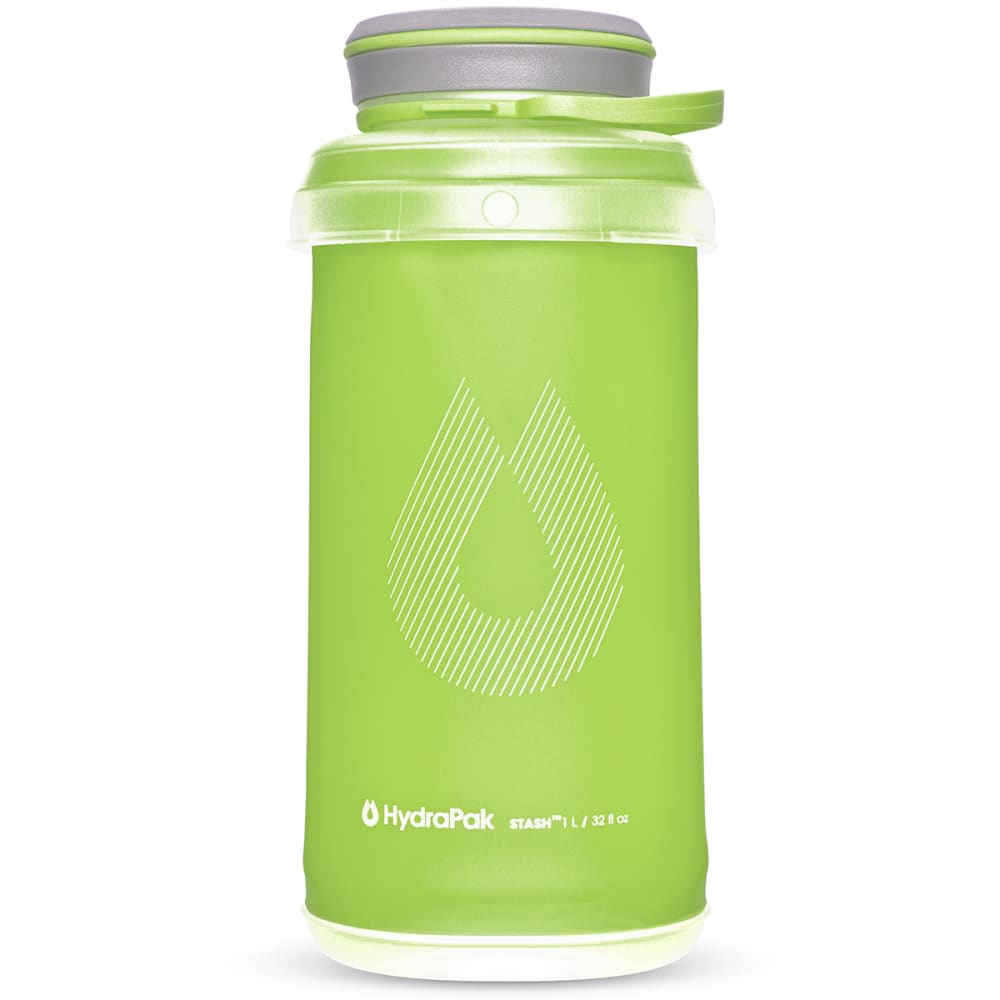 HYDRAPAK 1L Stash Water Bottle - SEQUOIA GREEN/G101Q