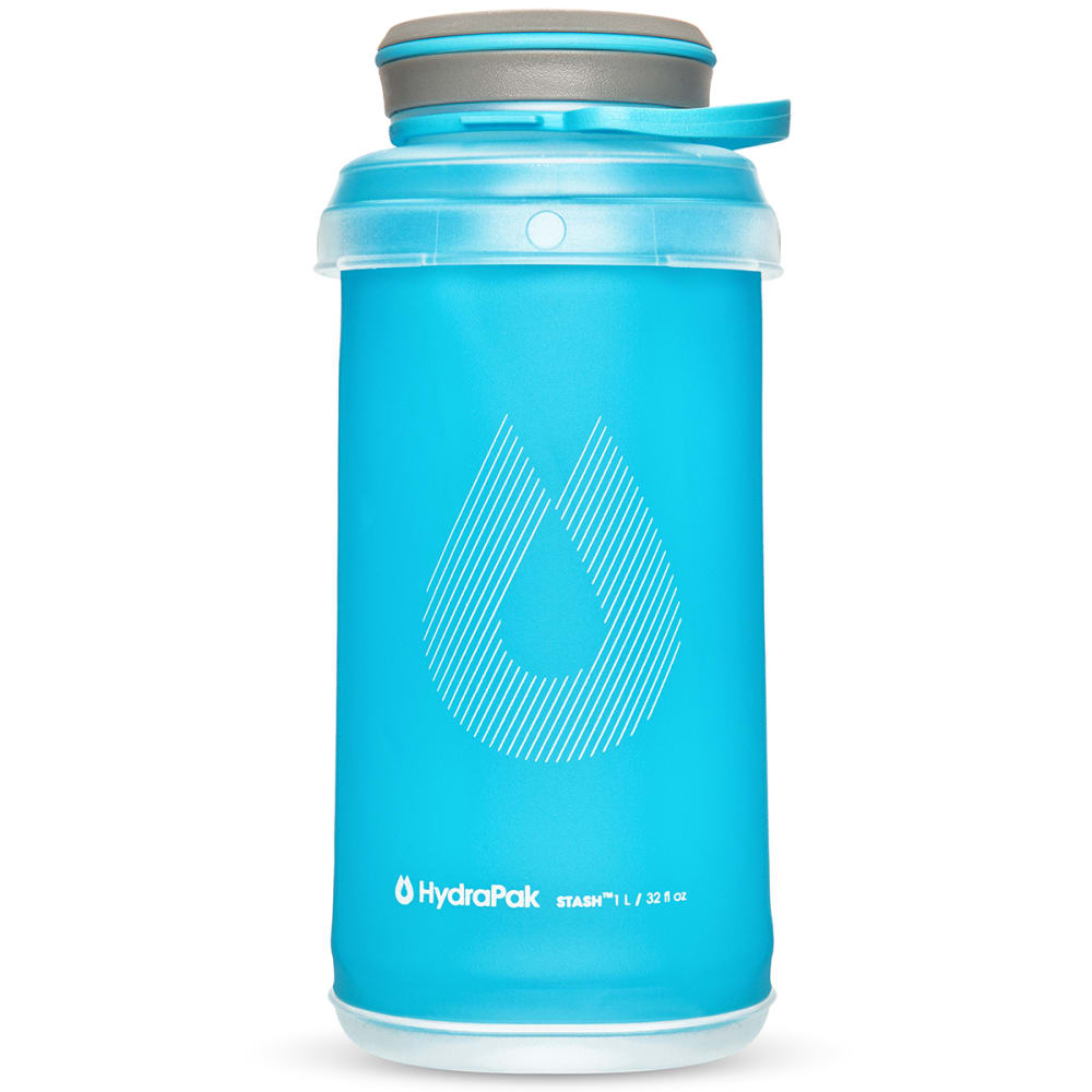 HYDRAPAK 1L Stash Water Bottle - MALIBU BLUE/G101HP