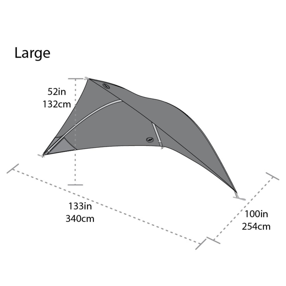 BIG AGNES Whetstone Shelter, Large - RED/YELLOW