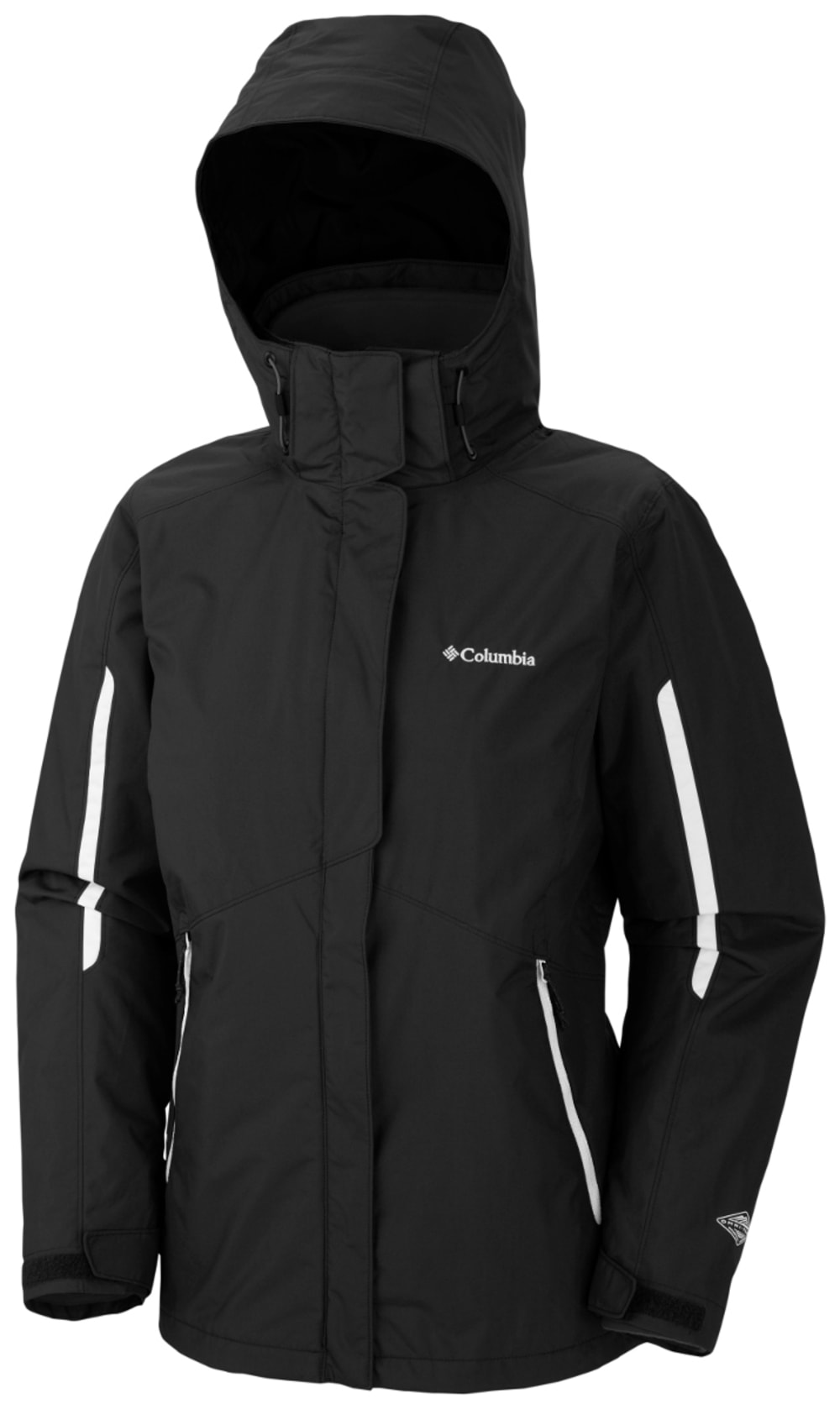 COLUMBIA Women's Bugaboo Interchange Jacket - 010-BLACK/WHITE