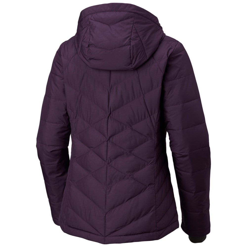 COLUMBIA Women's Heavenly Hooded Jacket - DARKPLUM-506