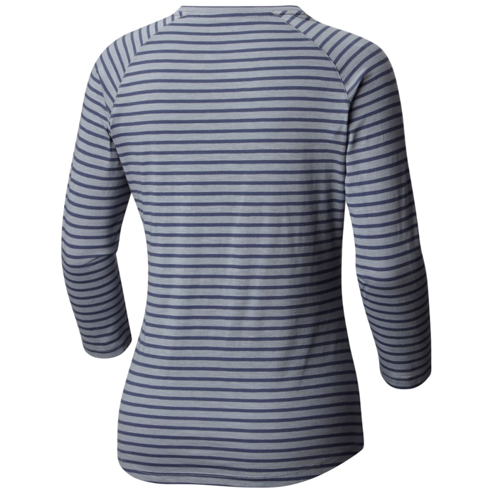 COLUMBIA Women's Unbearable Stripe Tee - 021-T GREY ASH STRIP