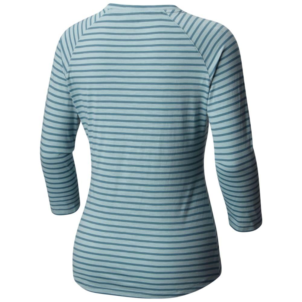 COLUMBIA Women's Unbearable Stripe Tee - 938-T STONE BLUE STR