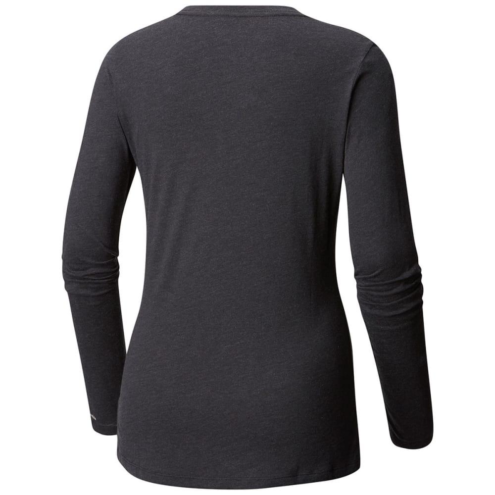 COLUMBIA Women's Pixel Point Long-Sleeve Tee - 031-CHARCOAL HEATHER