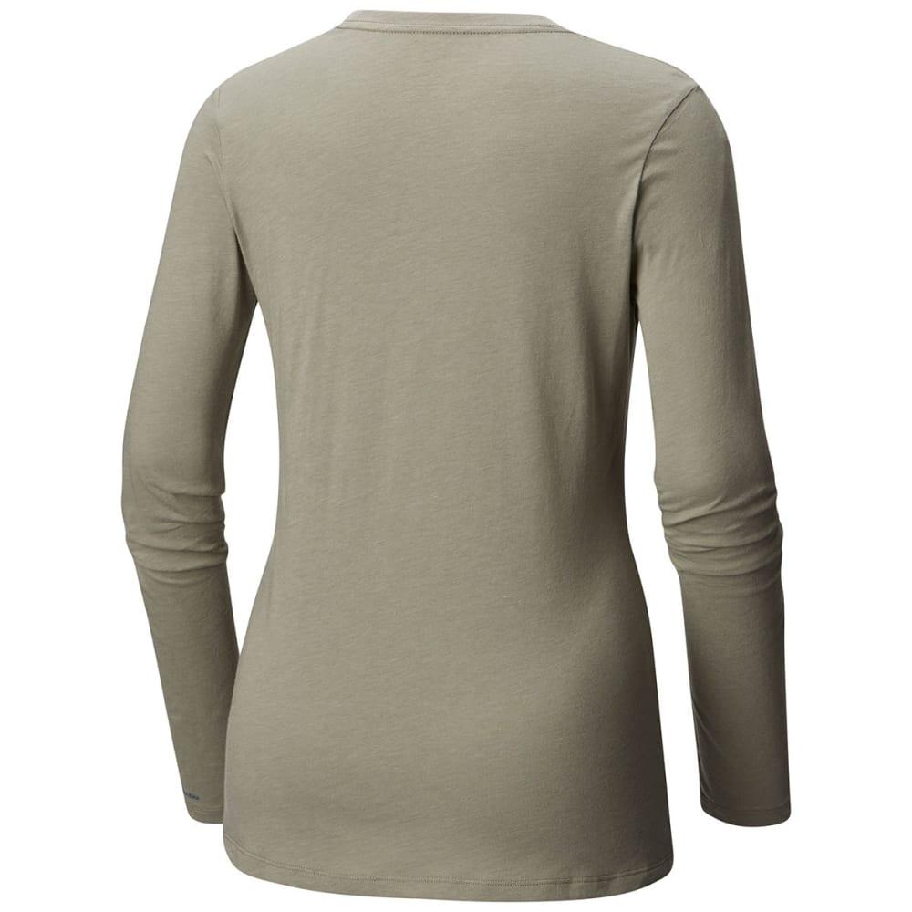 COLUMBIA Women's Pixel Point Long-Sleeve Tee - 039-T GREY HEATHER