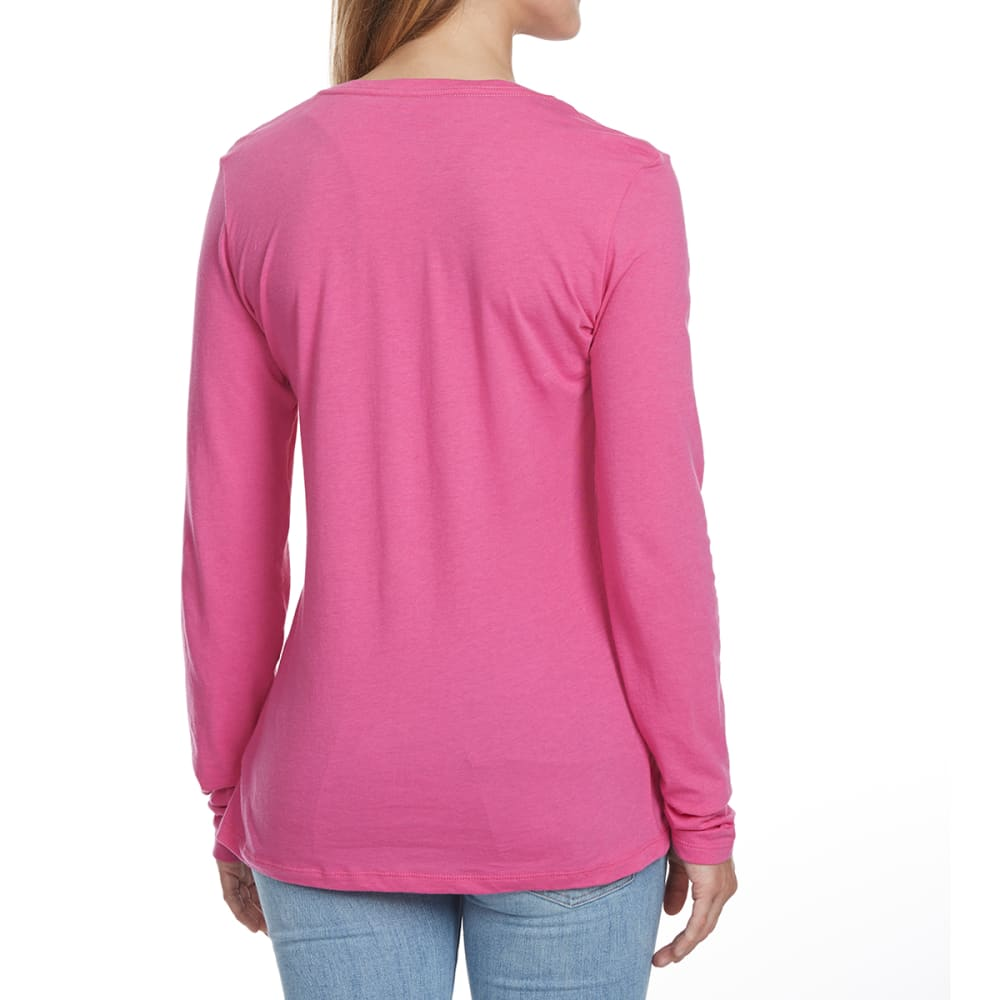 COLUMBIA Women's Tested Tough In Pink Medallion Long-Sleeve Tee - 695-PINK ICE