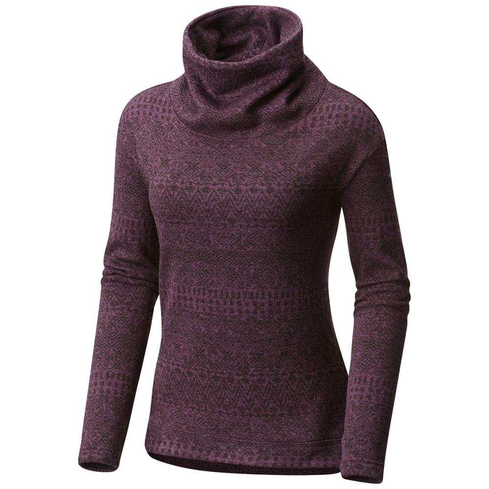 COLUMBIA Women's Sweater Season Printed Long-Sleeve Pullover - 500-DUSTY PURPL