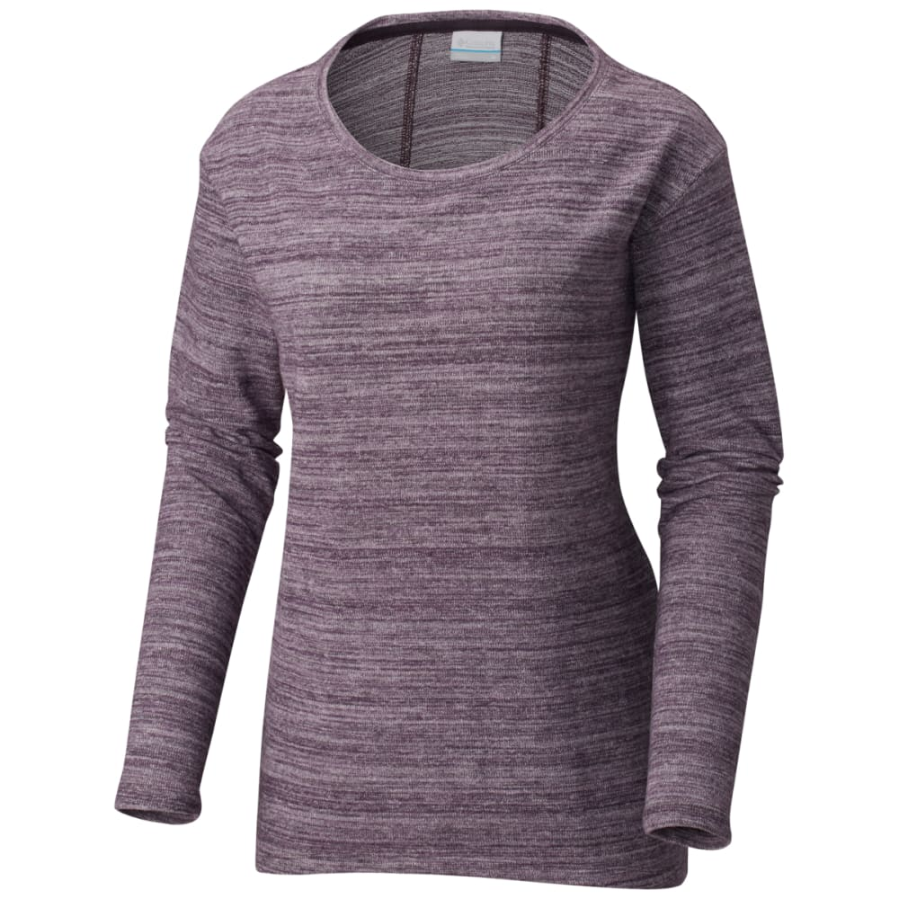 COLUMBIA Women's By the Hearth Sweater - DARK PLUM - 506