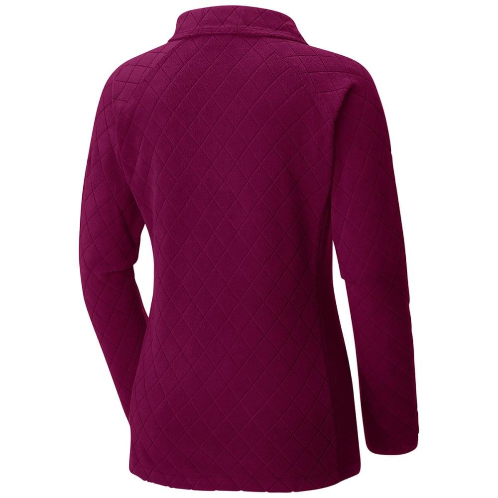 COLUMBIA Women's Glacial Fleece III Print Half Zip Pullover - 521-DARK RESPBERRY