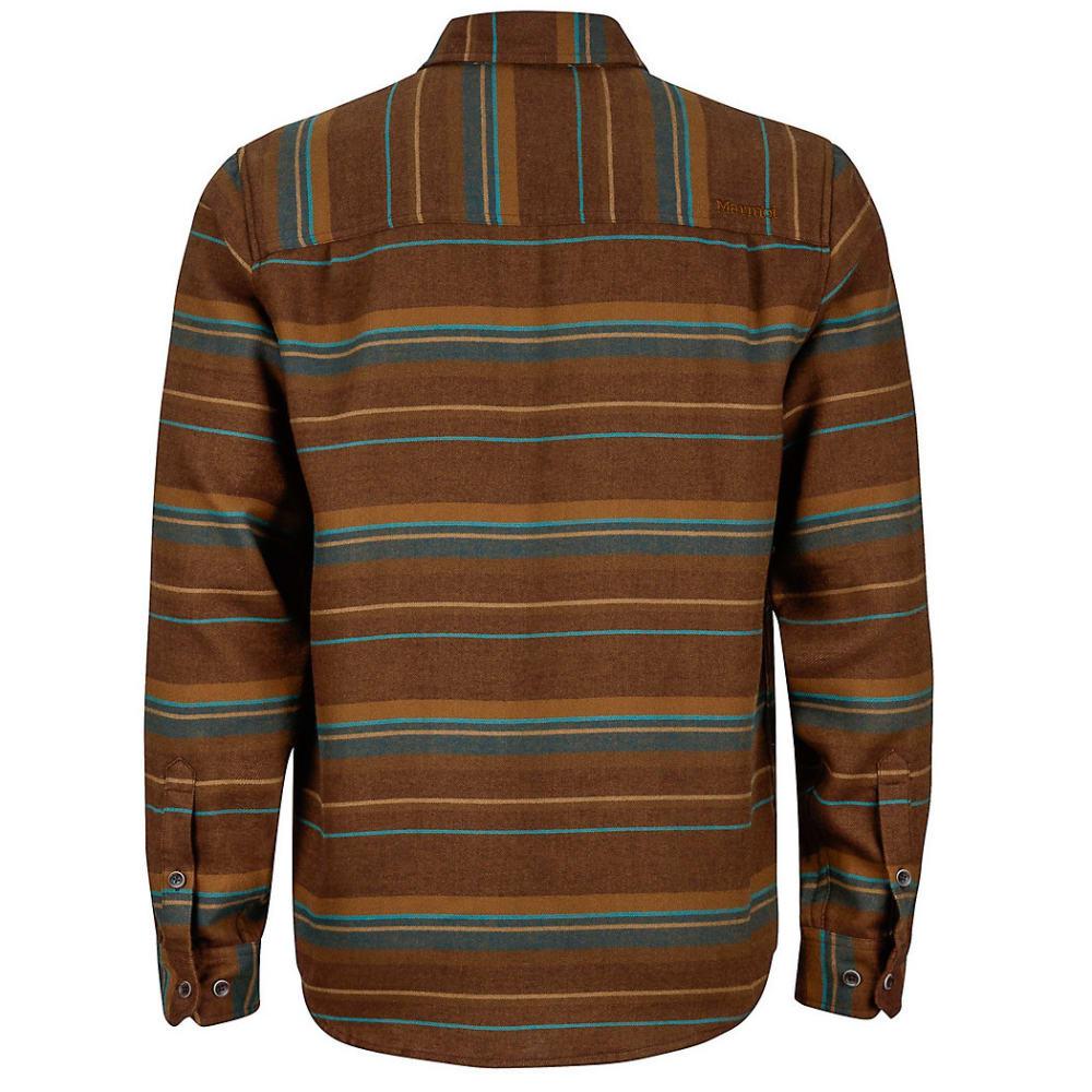 MARMOT Men's Enfield Flannel Shirt - 7141-RICH BROWN HTR