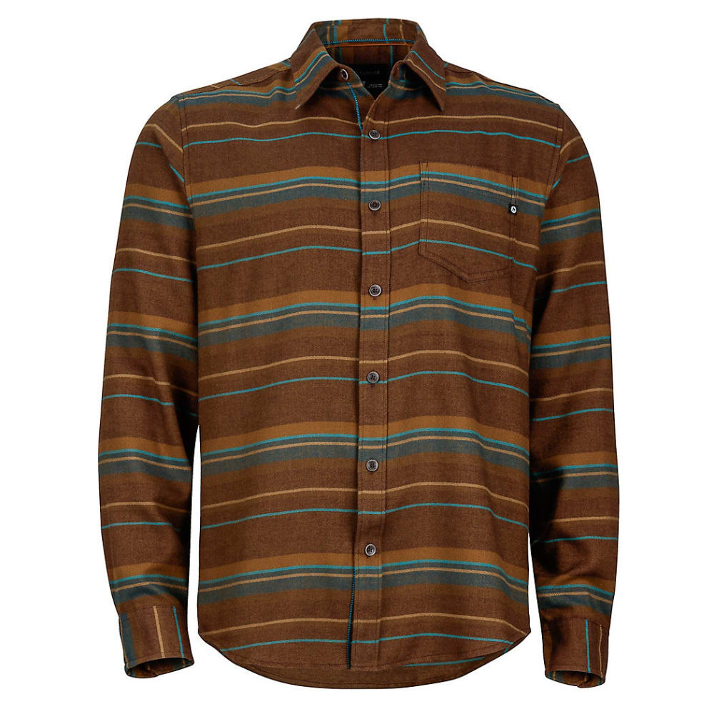 MARMOT Men's Enfield Flannel Shirt - 7141-RICH BROWN HTR