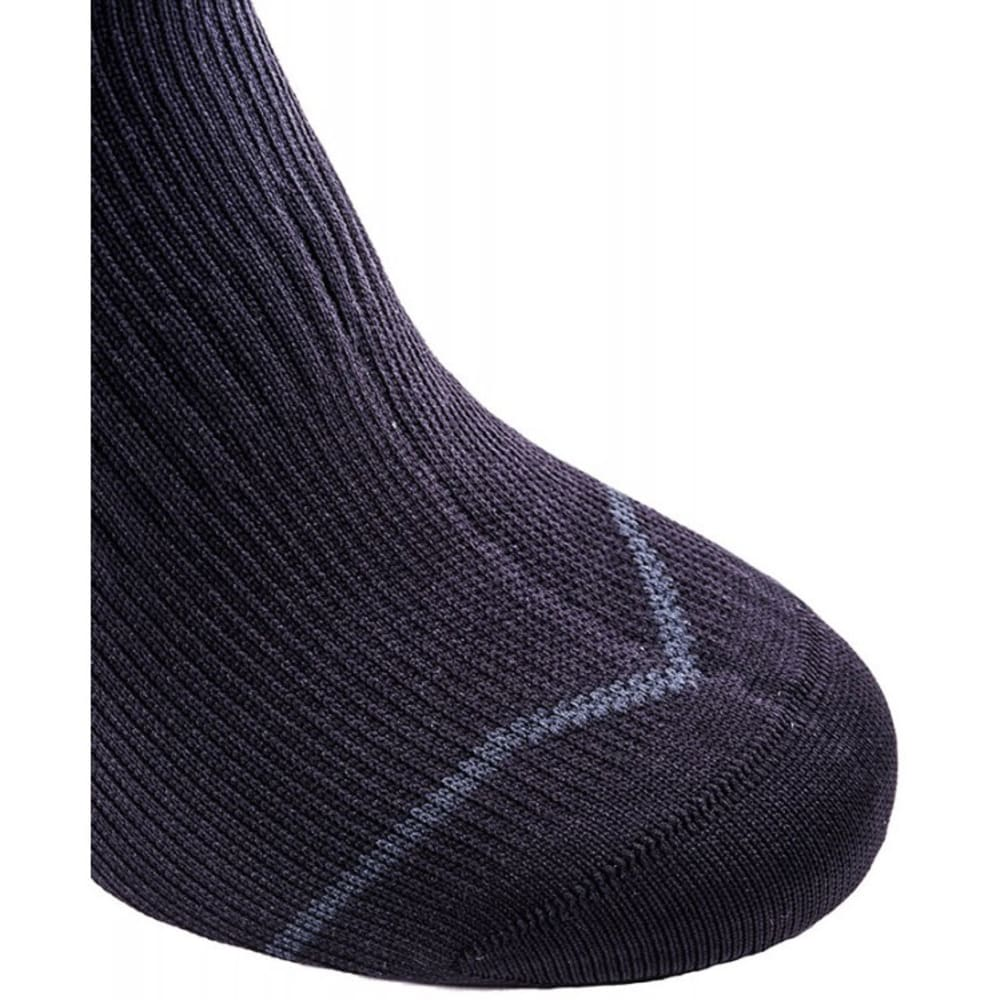 SEALSKINZ Road Thin Mid With Hydrostop Socks - BLACK/ANTHRACITE