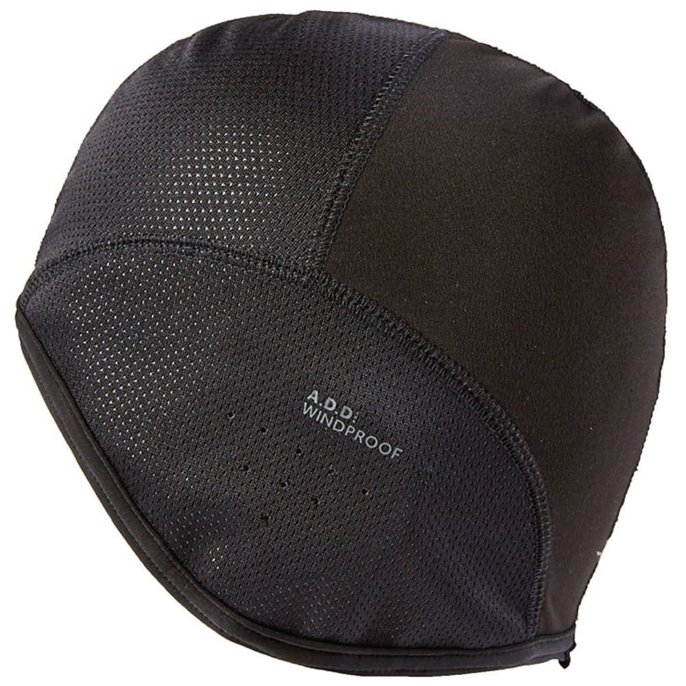 SEALSKINZ Windproof Skull Cap - BLACK/REFLECTIVE SIL