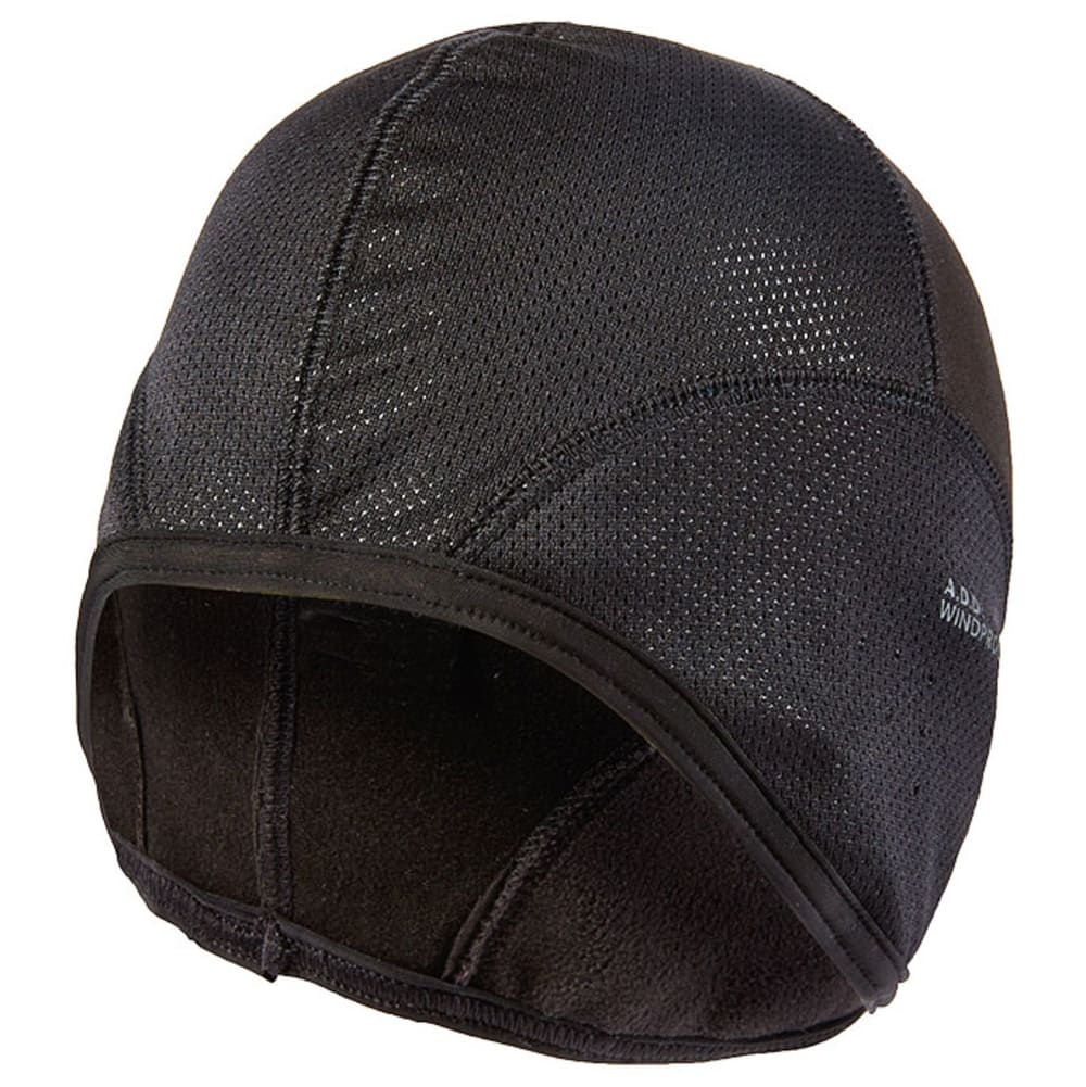 SEALSKINZ Windproof Skull Cap - BLACK/REFLECTIVE SIL