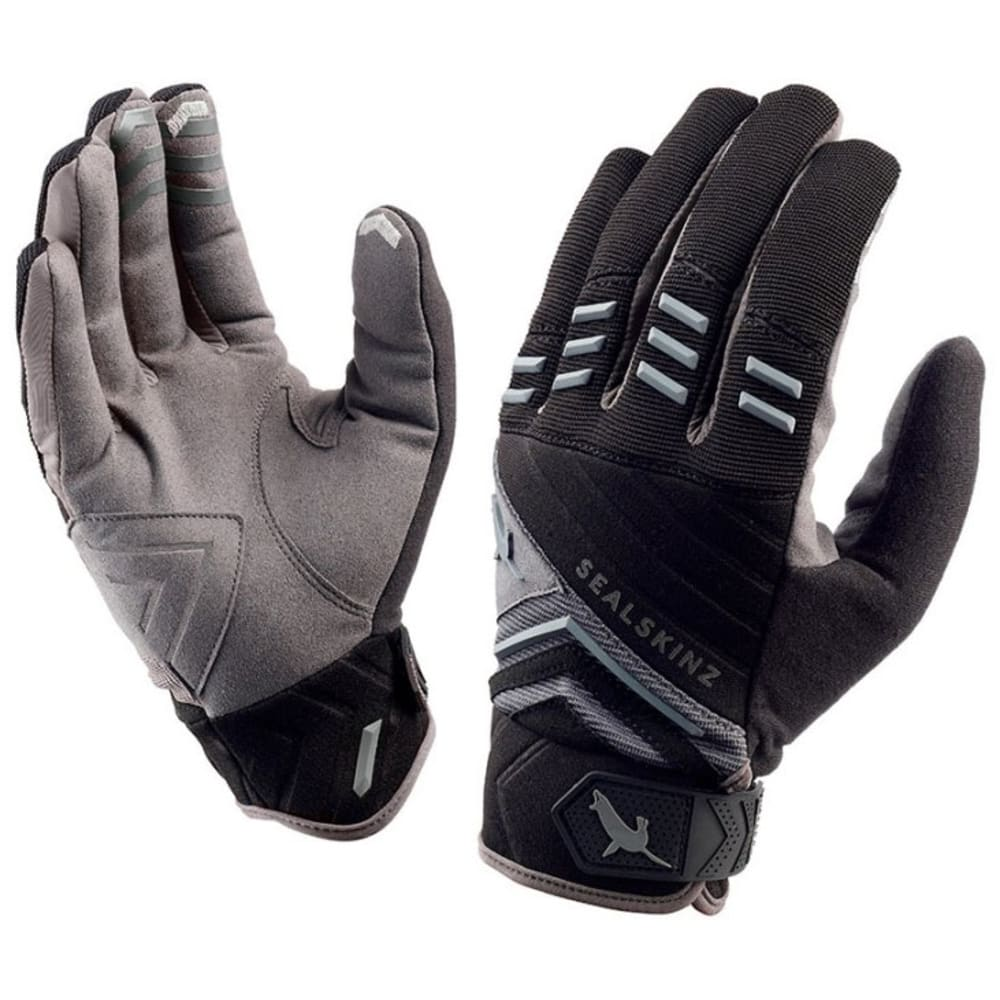 SEALSKINZ Dragon Eye Cycling Trail Gloves - BLK/ANTHRACITE/MDGRY