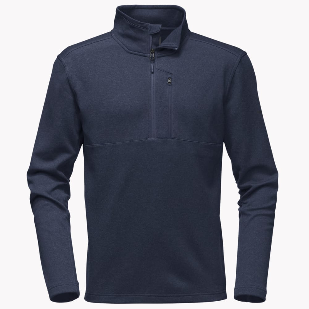 THE NORTH FACE Men's Bi-Stretch Twill Quarter Zip Pullover - AVM-URBAN NAVY HTR