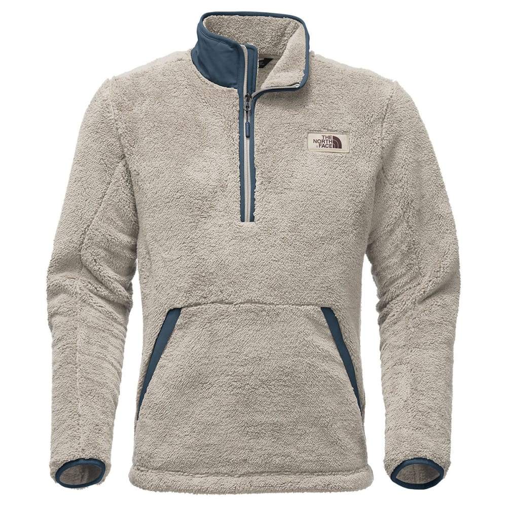 THE NORTH FACE Men's Campshire 1/2-Zip Fleece Pullover - PLW-GRANITE BLUF TAN