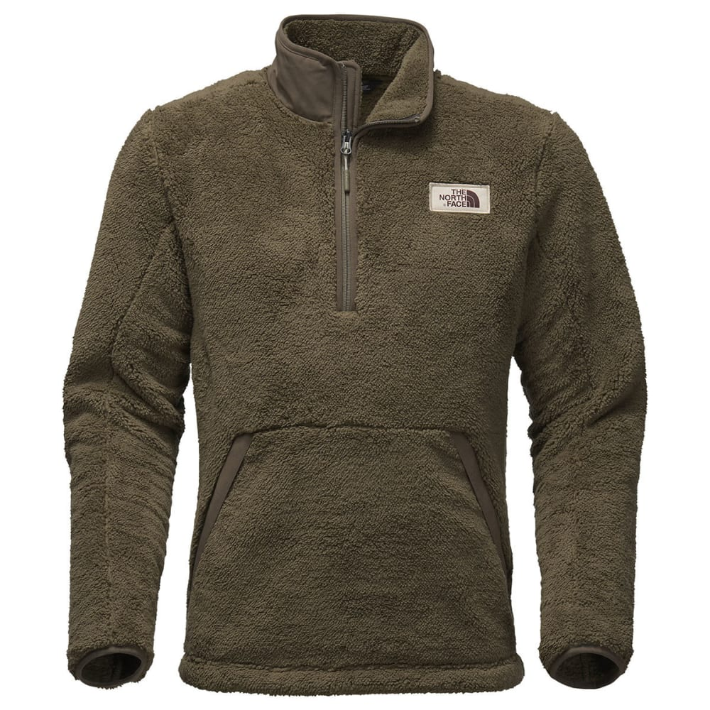THE NORTH FACE Men's Campshire 1/2-Zip Fleece Pullover - 7D6-OLIVE GREEN